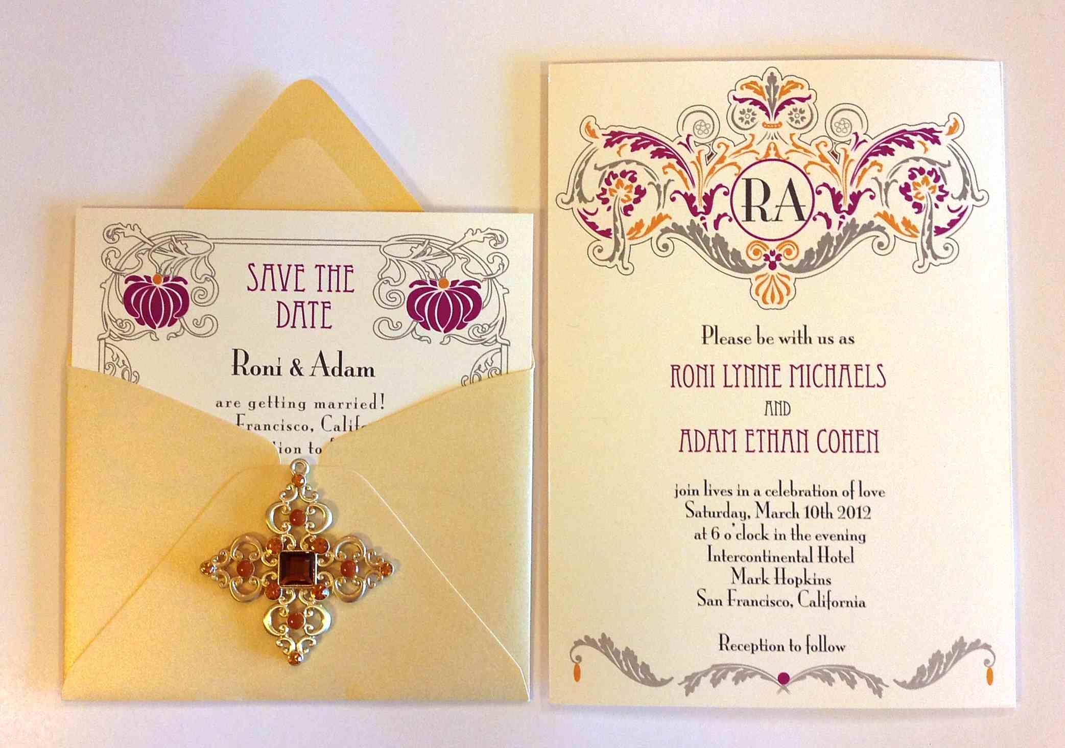 Art Deco Wedding Invitation Theme Invitation Story