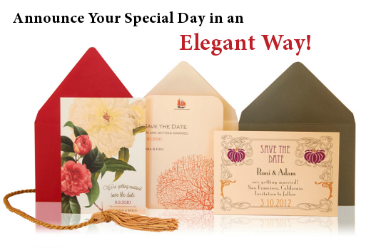 Announce Your Special Day in an Elegant Way