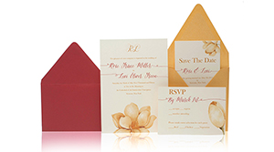 Invitations – Yellow Flower