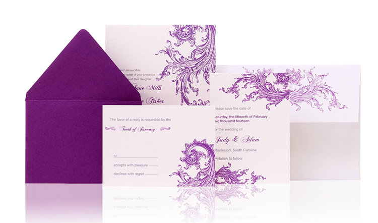 Baroque Ready to Order Luxury Wedding Invitation