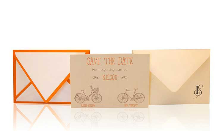 Bike With Me Save the Date Invitation