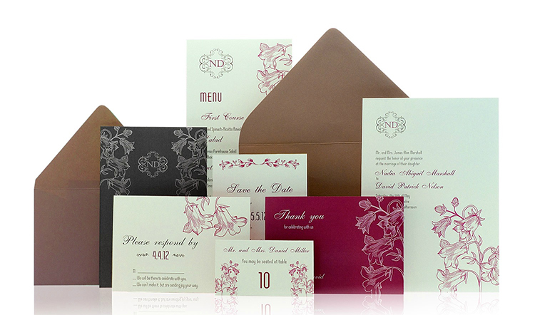 Graceful Bloom Ready to Order Luxury Wedding Invitation