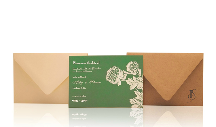 Hydrangea Save the Date Invitation