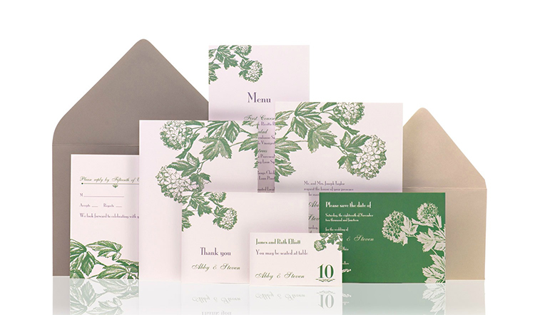 Hydrangea Ready to Order Luxury Wedding Invitation