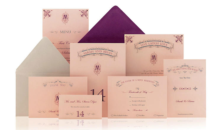 Live-Laugh-Love Ready to Order Luxury Wedding Invitation