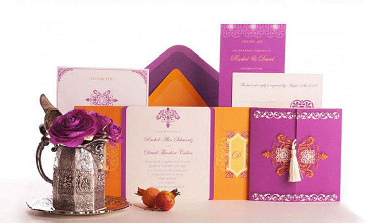 Moroccan Ready to Order Luxury Wedding Invitation