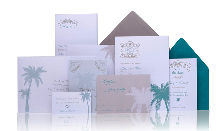 Palmetto Ready to Order Luxury Wedding Invitation