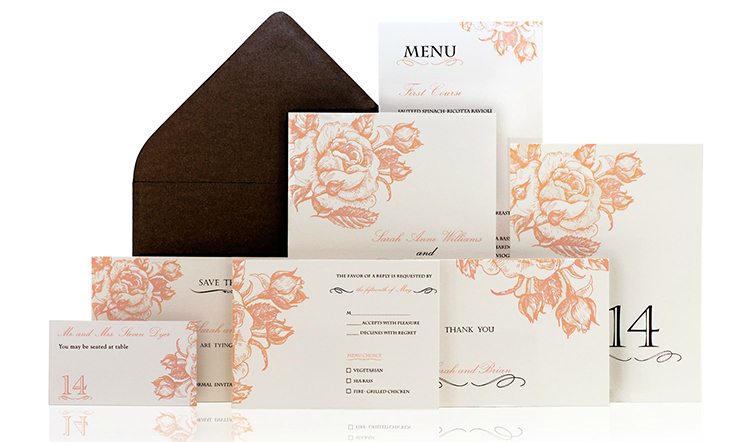 Rosetta Ready to Order Luxury Wedding Invitation