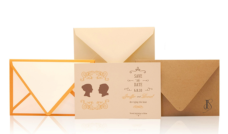 Silhouette Save the Date Invitation