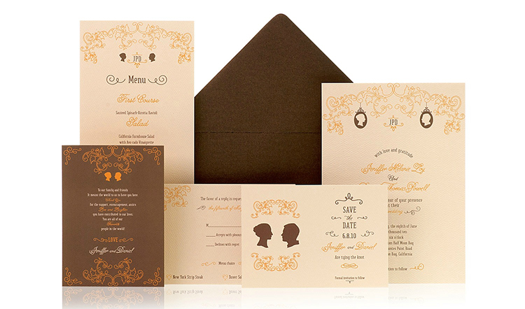 Silhouette Ready to Order Luxury Wedding Invitation
