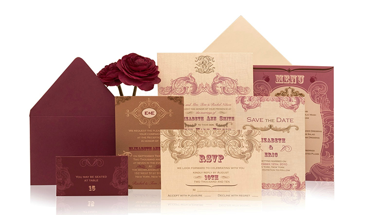 Vintage Ready to Order Luxury Wedding Invitation